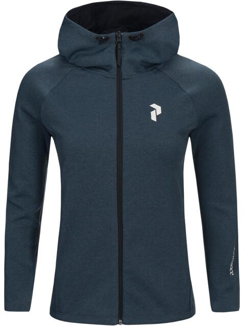 Peak Performance W's Pulse Zip Hood Blue Steel